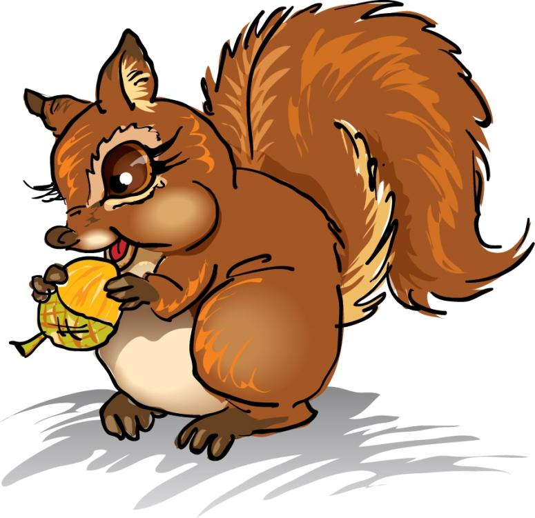 775x751 Squirrel Clip Art With Nuts Free Clipart Images Image 2