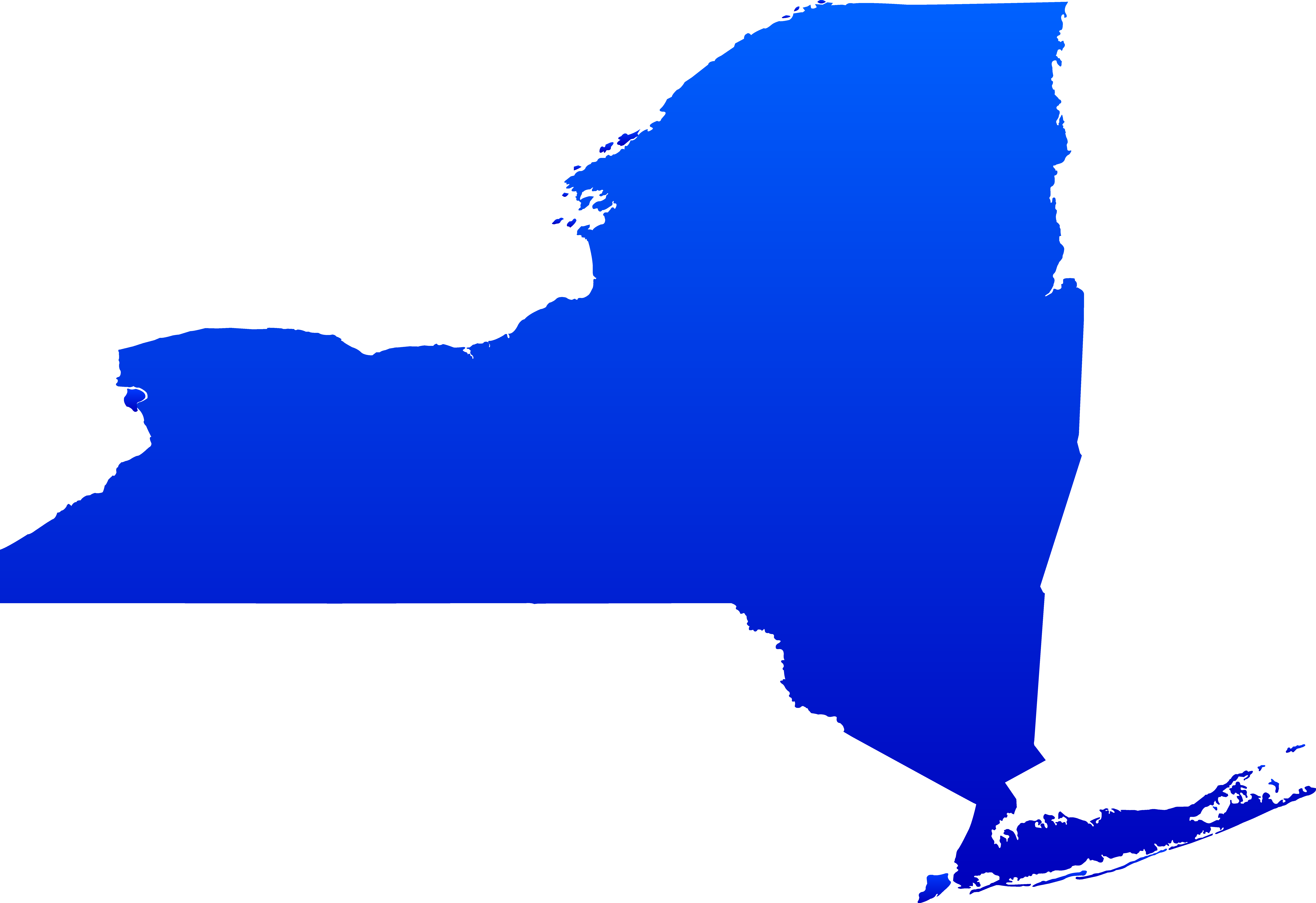 9196x6313 Blue Map New York Clipart