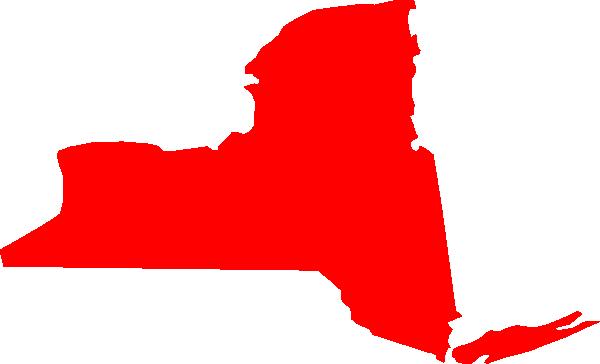 600x364 New York Map Clip Art