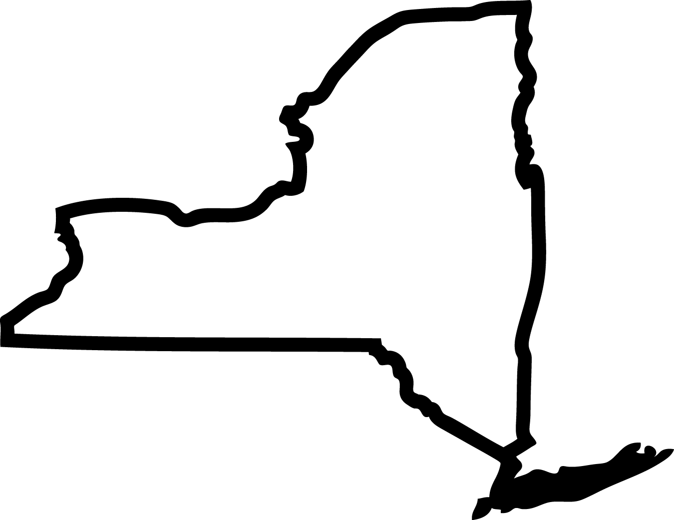 1350x1041 State Of New York Clipart