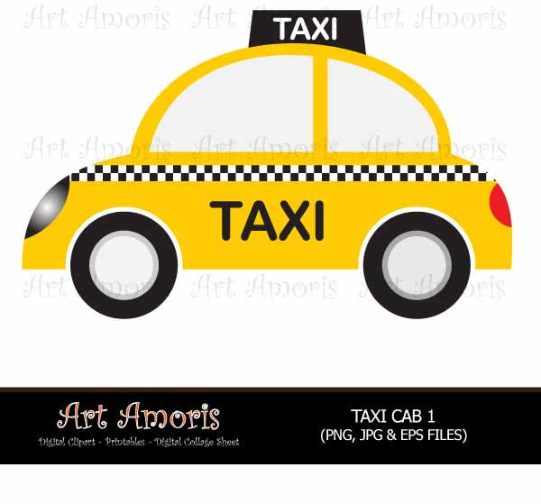 600x559 New York Taxi Cab Cars Yellow Car Vehicle Clipart Digital