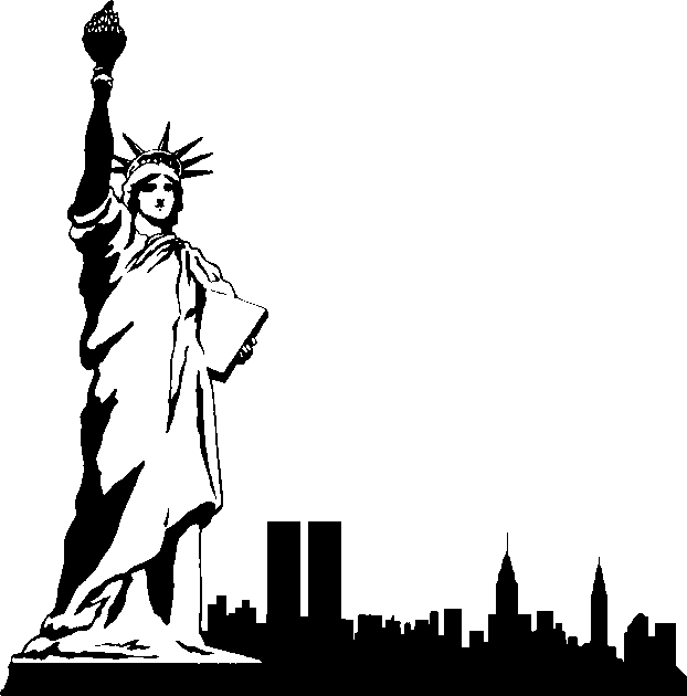 622x630 New York City Clipart Black And White