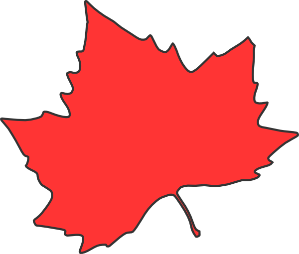600x510 Red Leaf Clipart