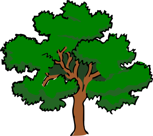 500x444 Vector Clip Art Of Oaktree With Wide Treetop, Public Domain Vectors