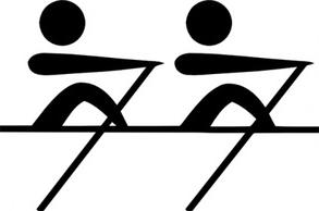 293x194 Rowing Clipart