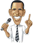 130x170 Drawing Of Barack Obama Caricature K9418493