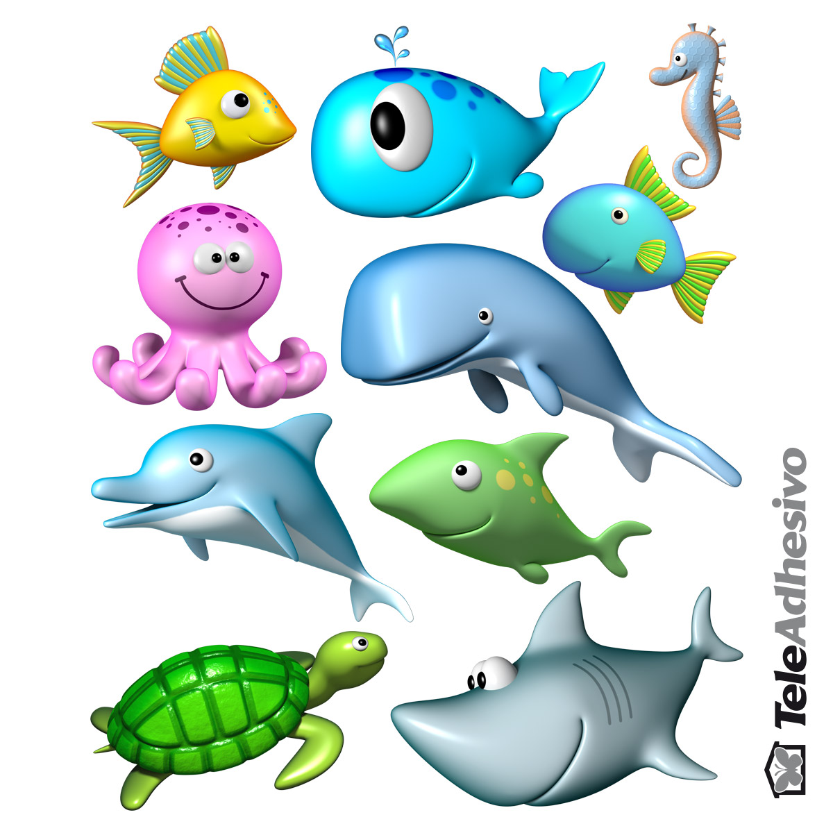 1200x1200 Kit Ocean Animals
