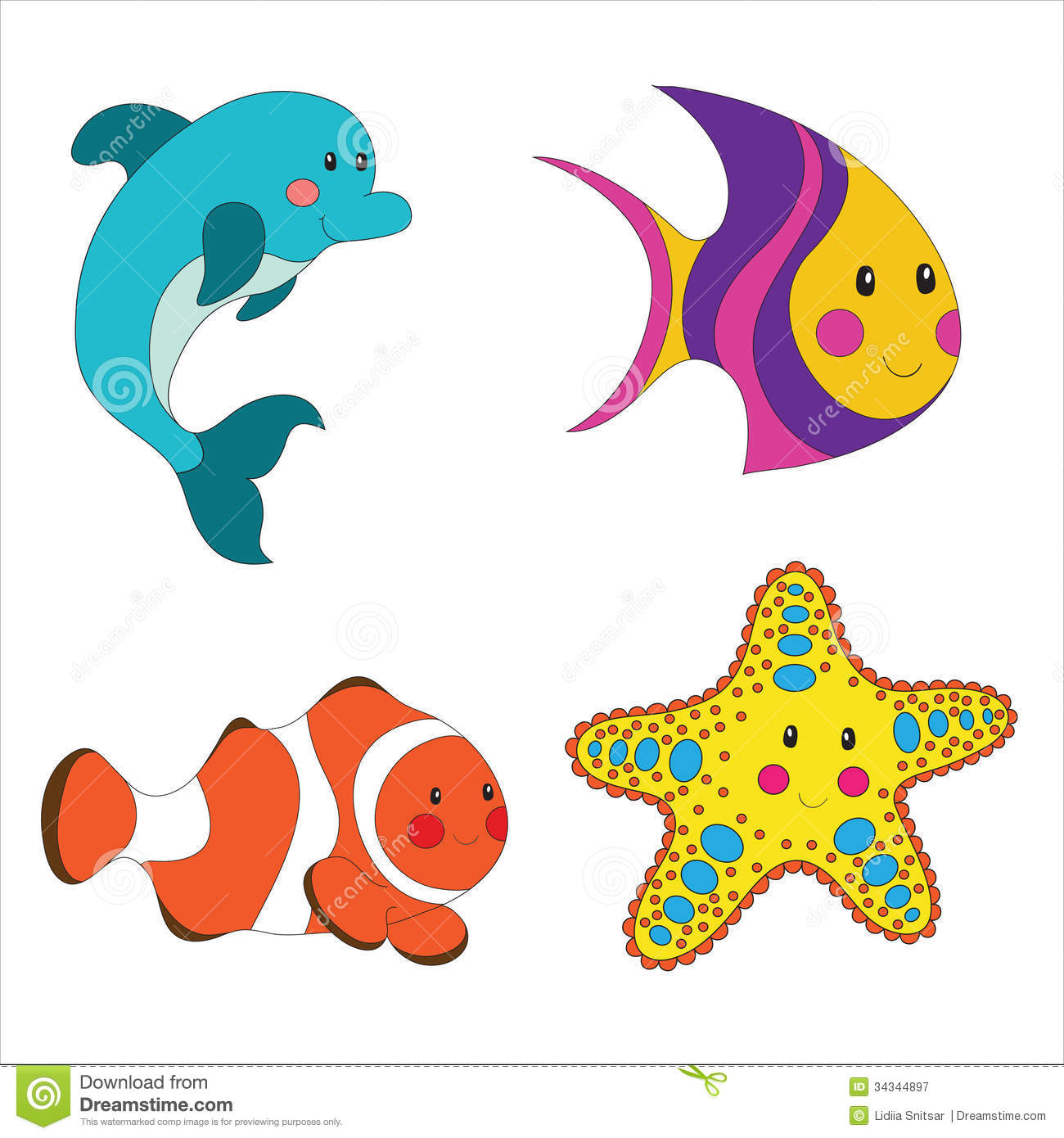 1300x1390 Sea Animal Clipart