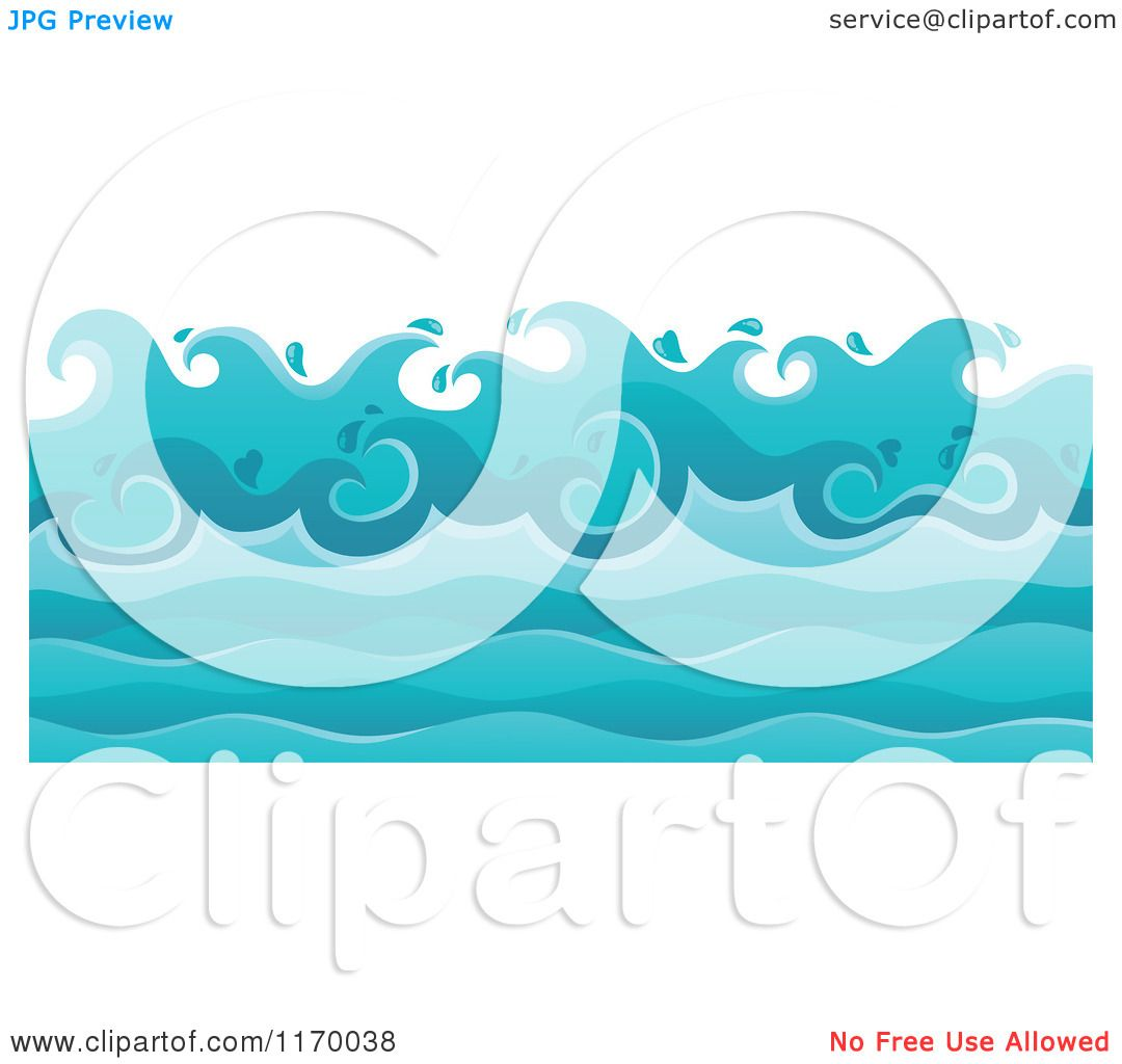 1080x1024 Cartoon Of A Background Of Ocean Waves