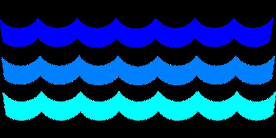 960x480 Clipart Waves Transparent