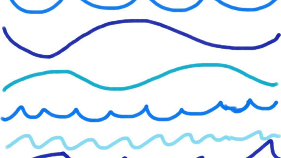 570x320 Ocean Wave Line Drawing Wave Border Clip Art