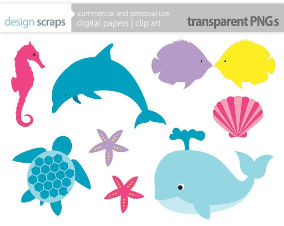 570x453 Seafood clipart ocean animal
