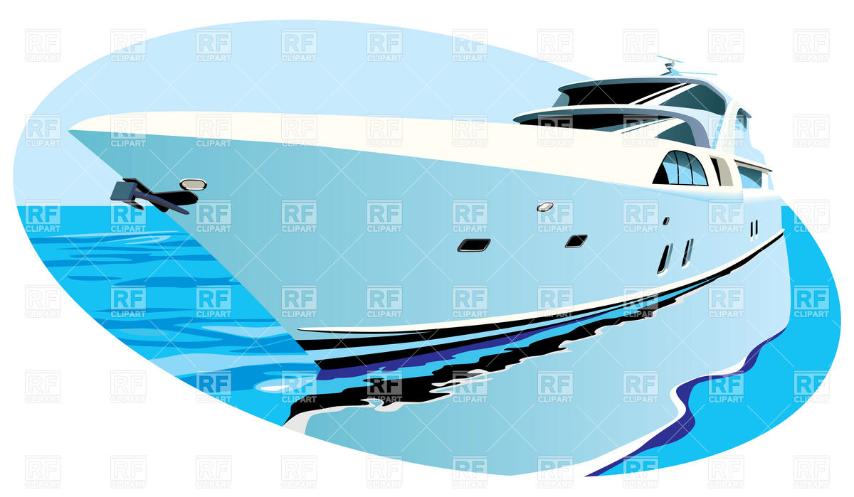 1200x699 Large Luxury Yacht On Background Of Ocean Royalty Free Vector Clip