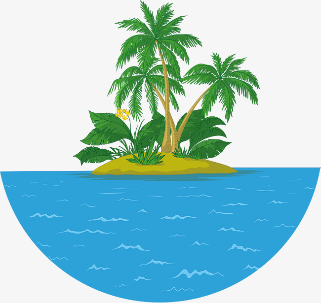 650x615 Summer Coconut Tree Island Vector, Island, Summer, Ocean Png