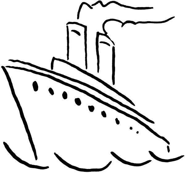 600x562 Free Nautical Clipart Black And White Image