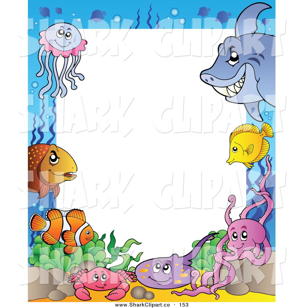 1024x1044 Sea Life Clipart Border