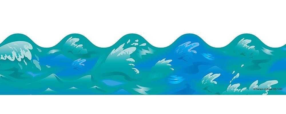1000x400 Ocean Clip Art Borders Clipart Panda