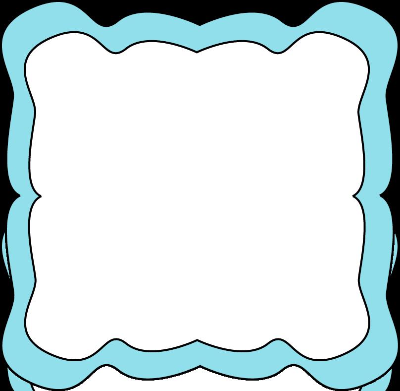 808x788 Blue Borders Clip Art