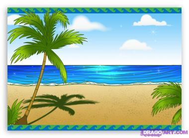 380x278 Scenery Clipart Line Drawing