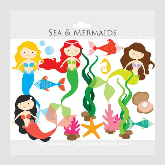 570x570 Baby Mermaid Clipart Free Download To Color