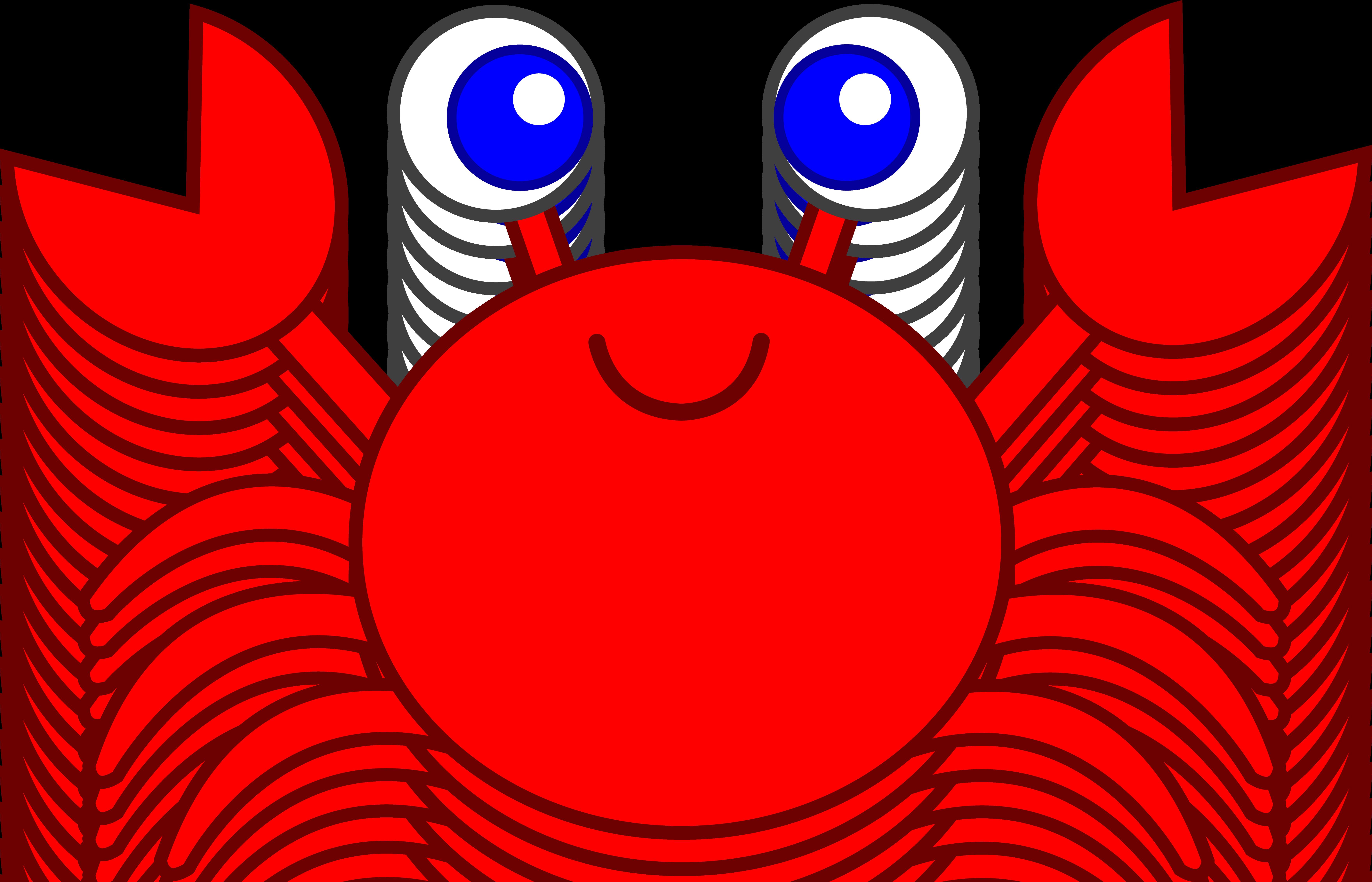 7031x4522 Cute Red Crab Clip Art