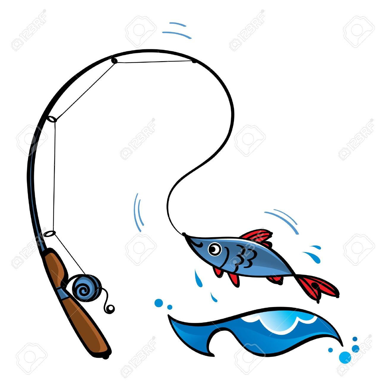1300x1300 Fishing Rod With Fish Clipart Amp Fishing Rod With Fish Clip Art