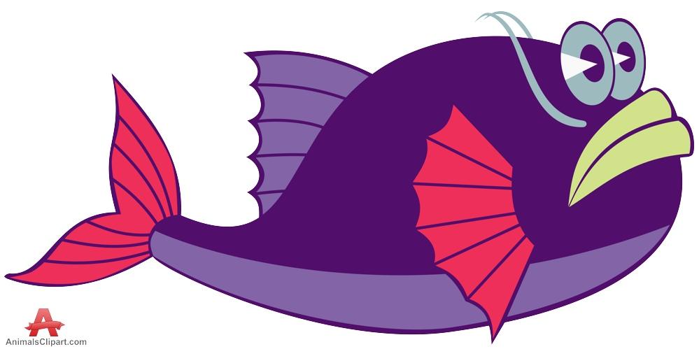 999x499 Funny Purple Fish Clipart Free Clipart Design Download