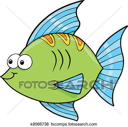 450x449 Clip Art Of Cute Goofy Fish Ocean Vector K8566738