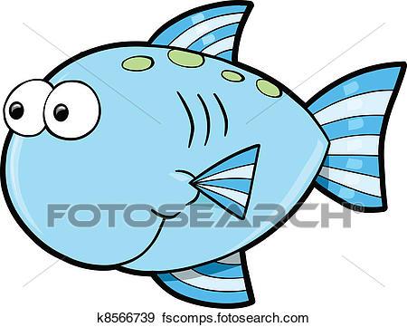 450x361 Clip Art Of Silly Cute Fish Ocean Vector K8566739