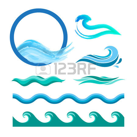 450x450 Collection Of Marine Waves. Sea Wavy, Ocean Art Water Design