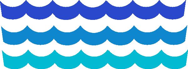 600x222 Ocean Wave Clipart