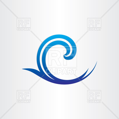 400x400 Sea Or Ocean Blue Wave Icon Royalty Free Vector Clip Art Image