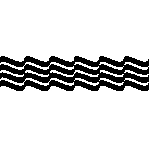 300x300 Wave Line Clipart Black And White