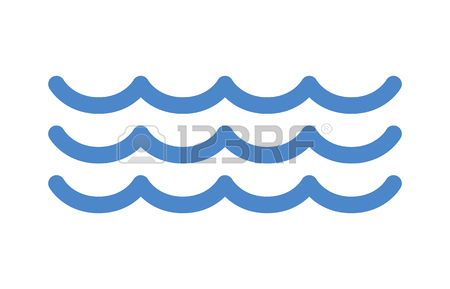 450x289 Blue Ocean Sea Water Waves Line Art Icon For Apps And Websites