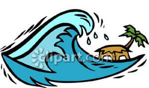 300x178 Ocean Clipart Tsunami Wave