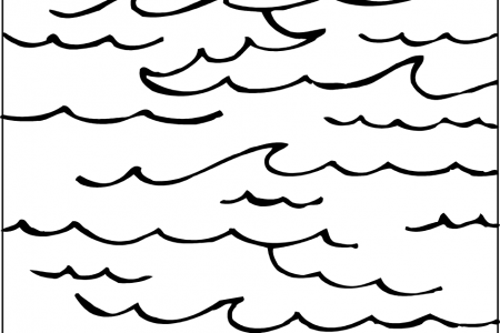 450x300 Clipart Of Ocean Black And White