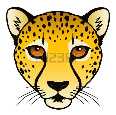 450x448 A Vector Ink Illustration Of An Ocelot S Face Royalty Free