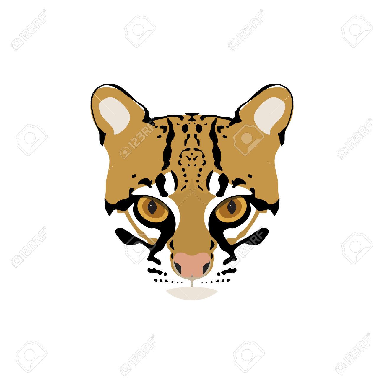 1300x1300 Big Cat Clipart Ocelot