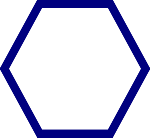 299x276 Blue Hexagon Clip Art