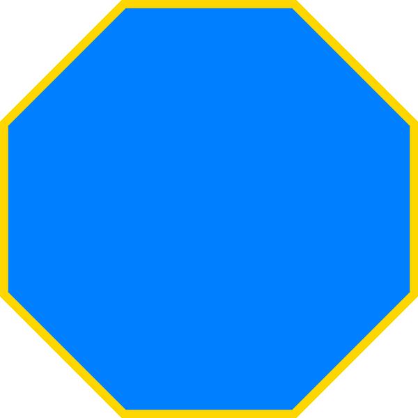 600x600 Blue Octagon Clip Art