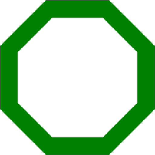 512x512 Octigon Clipart Shape Outline