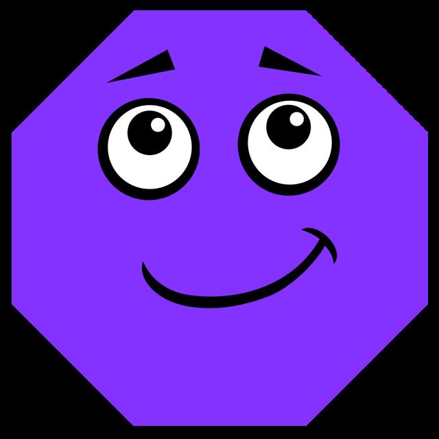 640x640 Octigons Clipart Purple