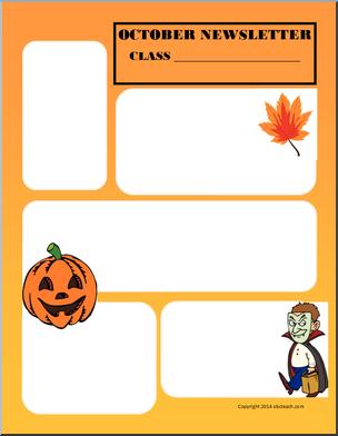 304x392 Fall Themed Newsletter