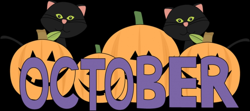 820x364 October Clip Art Clipart Image 17100 With October Clipart October