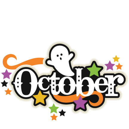 October Clipart Black And White