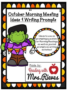 263x350 October Morning Meeting Questions By Reading With Mrs Rieves Tpt