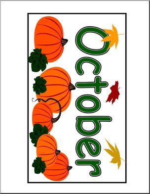 304x392 Calendar October (Header) Abcteach