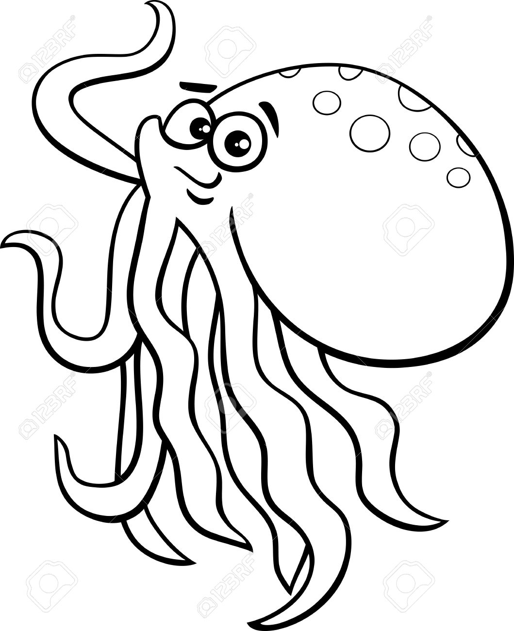 1059x1300 Cute Octopus Clipart Black And White
