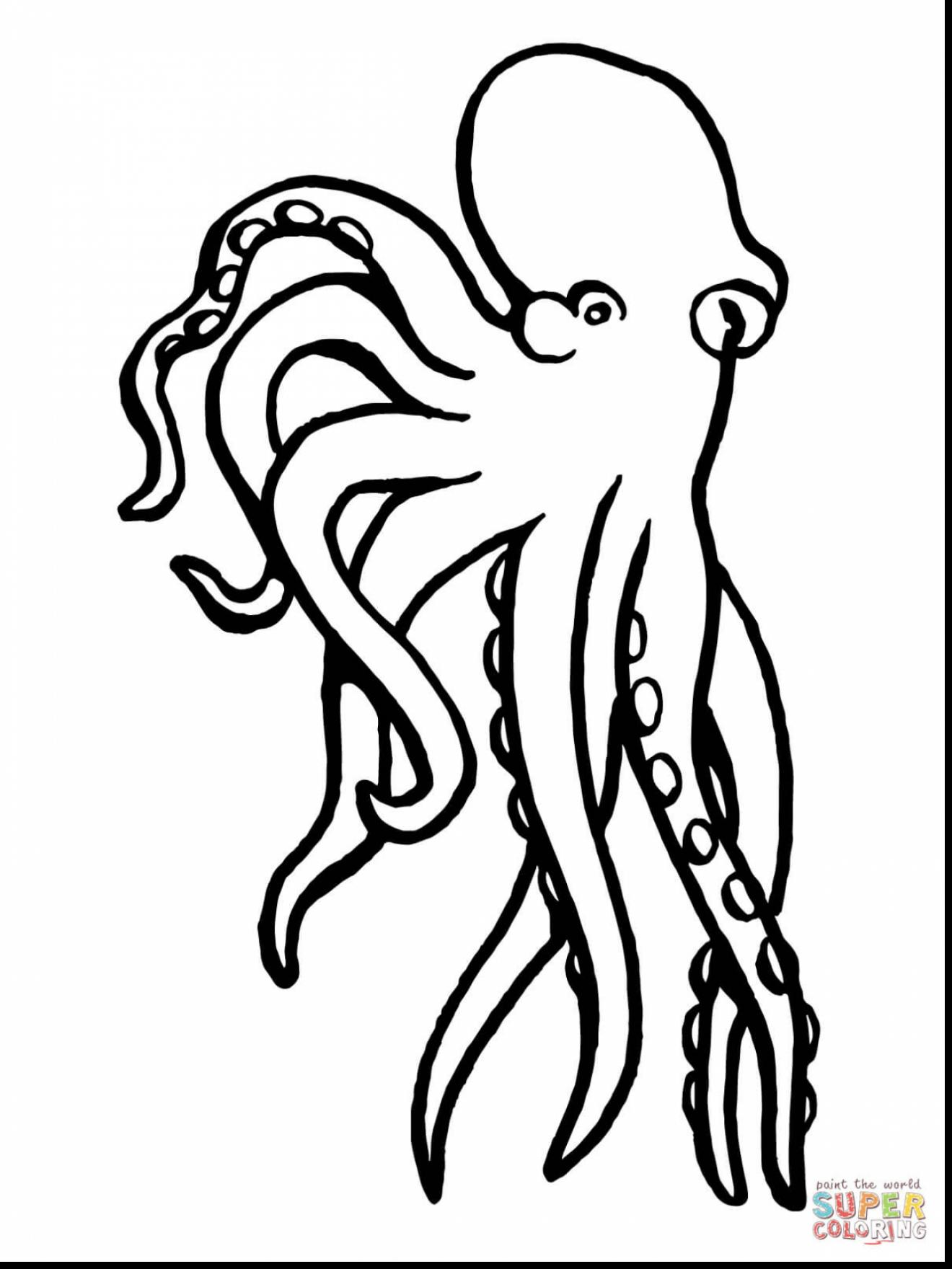 1320x1760 Remarkable Black And White Octopus Clip Art With Octopus Coloring