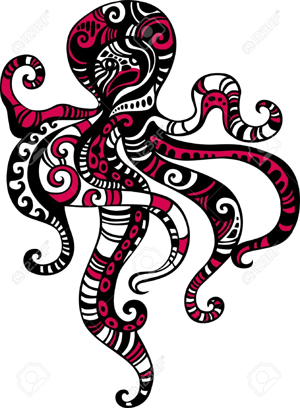 956x1300 Octopus Stock Vector Illustration And Royalty Free Octopus Clipart